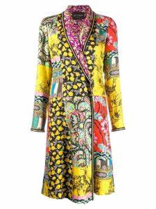 Etro patchwork coat - Yellow