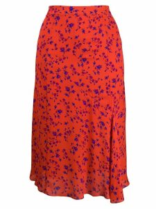 McQ Alexander McQueen floral print midi skirt - Orange