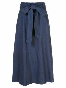 Tibi tie waist A-line skirt - Blue