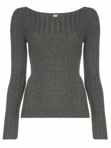 Toteme Toury ribbed knit top - Grey