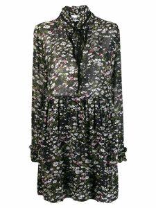 Ganni floral shirt dress - Black