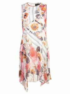 Nicole Miller striped floral dress - Multicolour