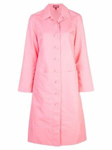 Staud buttoned trench coat - Pink