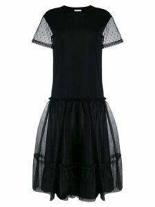 Red Valentino tulle detail dress - Black