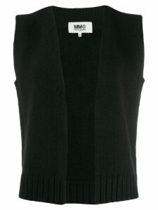 Mm6 Maison Margiela knitted vest top - Black
