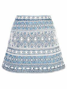 Alice+Olivia Riley mini skirt - Blue