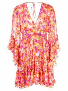 Misa Los Angeles floral ruffle dress - Orange