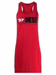 Diesel logo printed tank top - Red