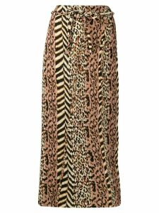 Nanushka animal print skirt - Neutrals