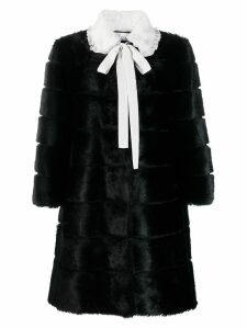 Red Valentino neck-tied coat - Black
