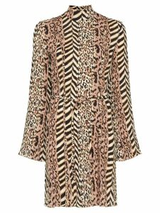 Nanushka animal-print mini dress - Brown