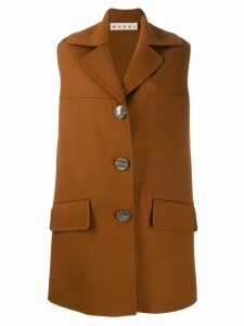 Marni sleeveless midi coat - Brown