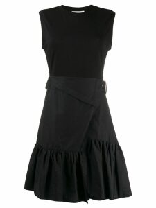 3.1 Phillip Lim T-Shirt Dress With Overlap - Black