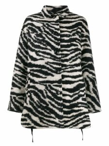Iro zebra print fitted coat - Black