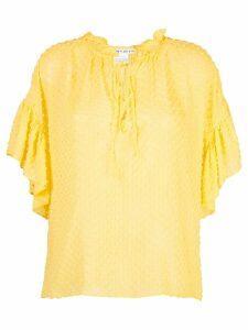 Alice+Olivia Julius ruffled tunic top - Yellow