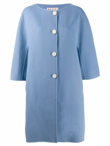 Marni three-quarter length sleeve coat - Blue