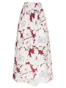 Carolina Herrera floral print gown skirt - Currant Multi