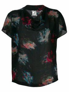 Anntian brush paint blouse - Black