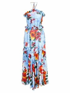 Misa Los Angeles floral ruffle dress - Blue
