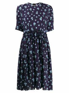 Marni floral print midi dress - Blue