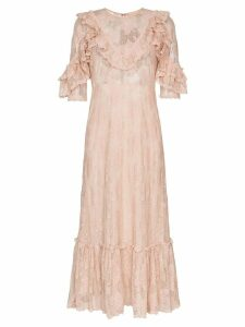 By Timo ruffled lace midi dress - Pink