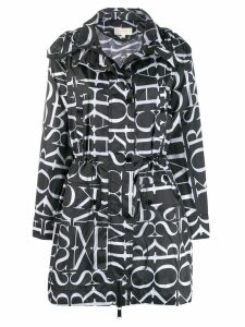 Michael Kors Collection all over logo trench coat - Black