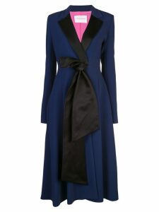 Carolina Herrera bow embellished coat - Blue