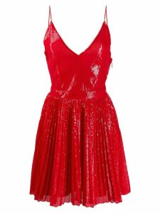MSGM sequin flare dress - Red