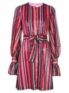 Carolina Herrera sequin puff-sleeved dress - Pink