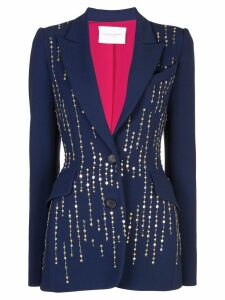 Carolina Herrera bead embroidery blazer - Blue