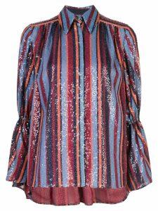 Carolina Herrera striped sequin-embroidery shirt - Multicolour