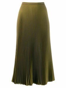 Prada midi pleated skirt - Green