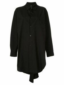 Y's long plain shirt - Black