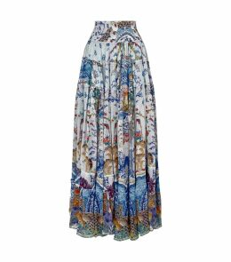Geisha Gateways Printed Tiered Skirt