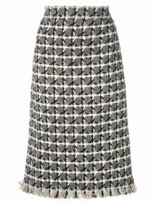 Oscar de la Renta tweed pencil skirt - Multicolour