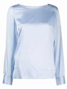 Pinko long-sleeve fitted blouse - Blue