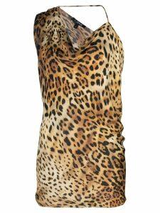 Cushnie leopard-print top - Brown