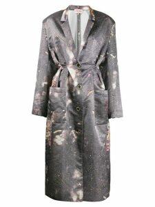 Natasha Zinko oversized pleated robe dress - Grey