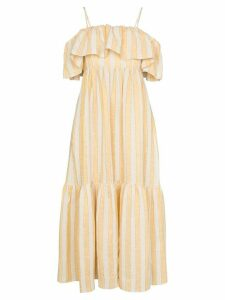 Three Graces Ida ruffle stripe maxi dress - Yellow