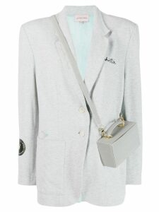 Natasha Zinko Chillin reflective bag blazer - Grey