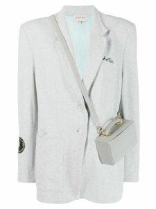 Natasha Zinko Chillin reflective bag blazer - Grey