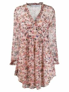 Iro floral flared dress - Pink