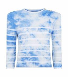 Striped Tie-Dye Sweater