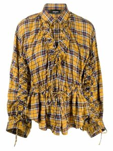 Dsquared2 checked frilled shirt - Yellow