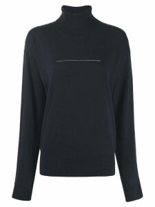 Mm6 Maison Margiela fine knit sweater - Blue