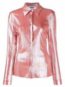 MSGM metallized shirt - Pink