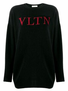Valentino VLTN logo knitted sweater - Black