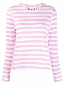 Ganni striped top - Pink