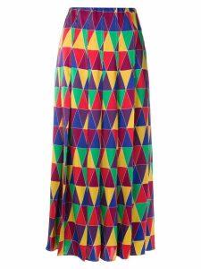 Reinaldo Lourenço geometric print midi skirt - Multicolour