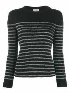 Saint Laurent Metallic striped sweater - Black